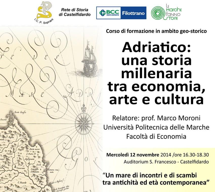 """Corso di formazione  """"Adriatico: una storia millenaria"""""""