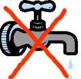 Sopensione temporanea dell`acqua nella notte di domani