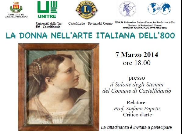 La donna nell`arte italiana dell`ottocento