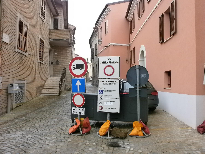 Barriera mobile in via Rosselli attiva da marzo