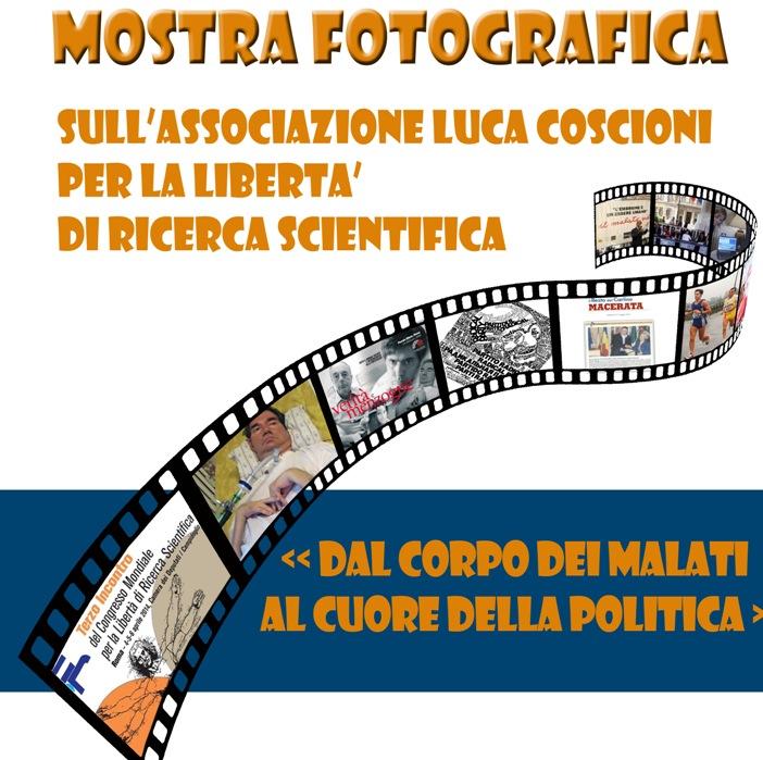 Mostra fotografica sull`associazione Luca Coscioni