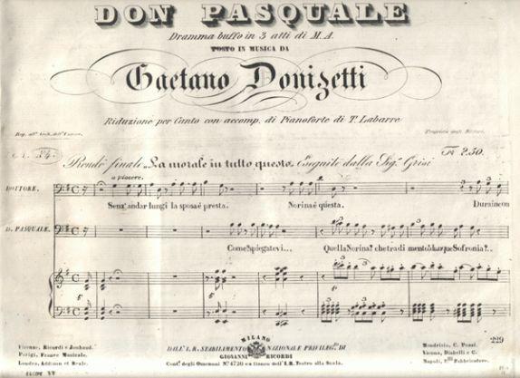 Don Pasquale, inizia la prevendita