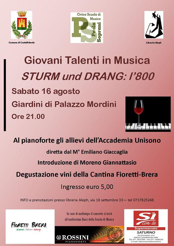 Sturm und drang, giovani talenti in musica