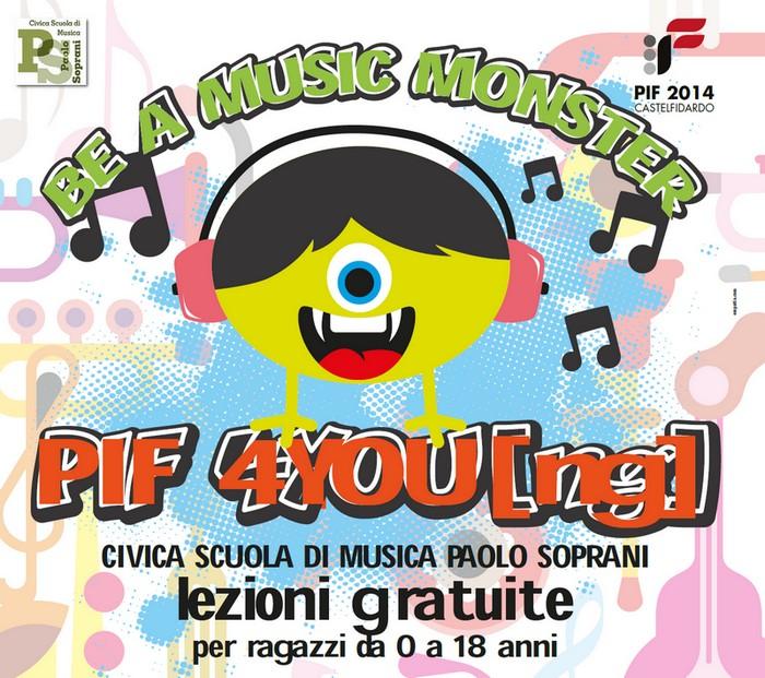 Scuola di musica, lezioni gratuite durante il PI.F.