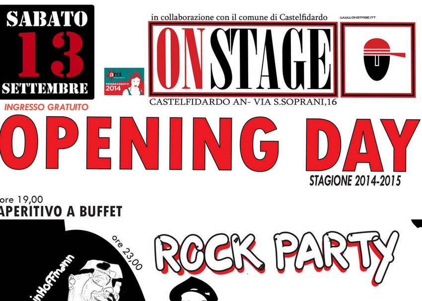 On Stage, apertura stagionale