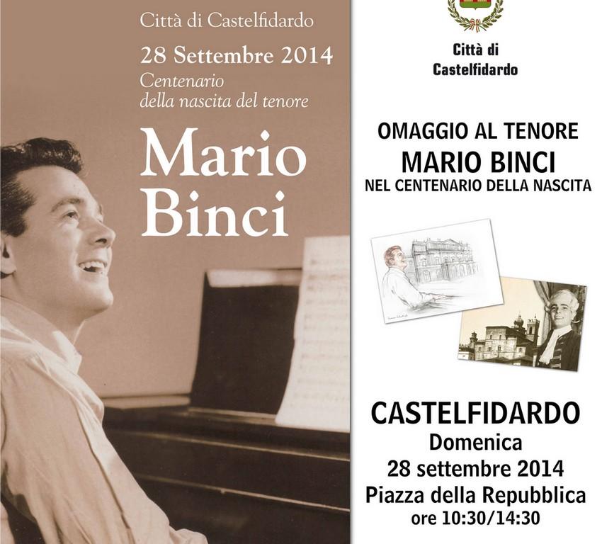 Centenario Mario Binci, una giornata celebrativa