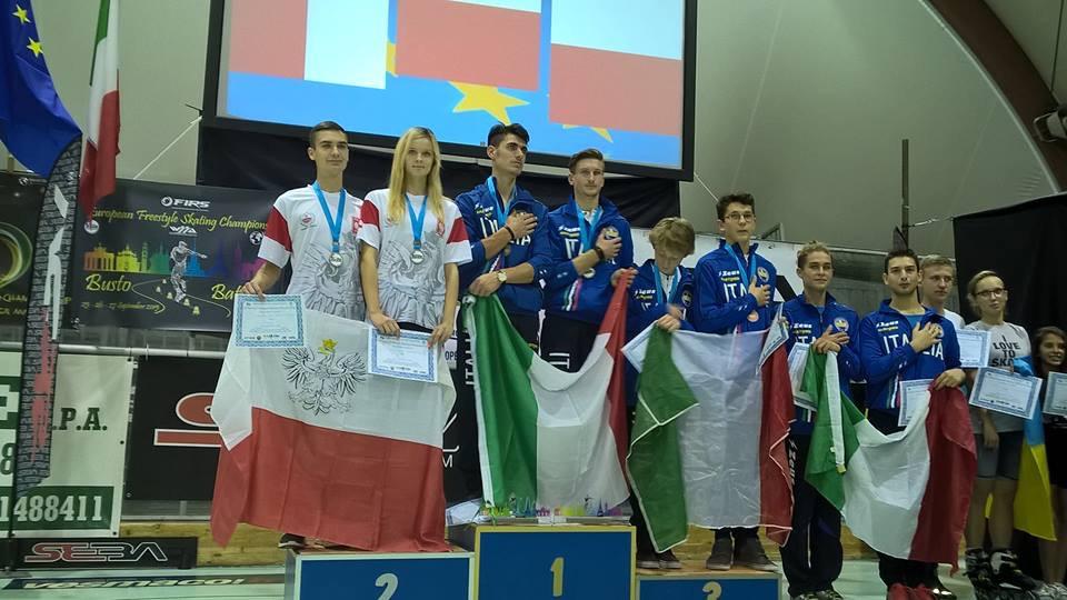 Conero Roller d`oro agli Europei di freestyle