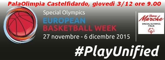 European Basketball week: Special Olimpics il 3/12