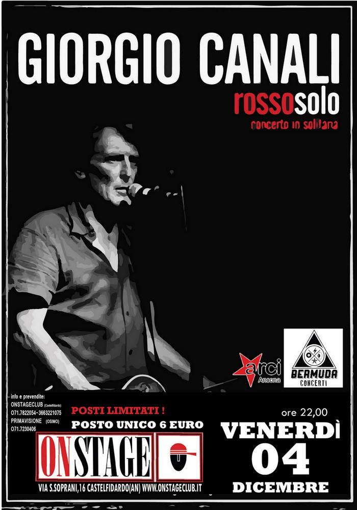 """Giorgio Canali con """"Rosso solo"""" all`On Stage"""