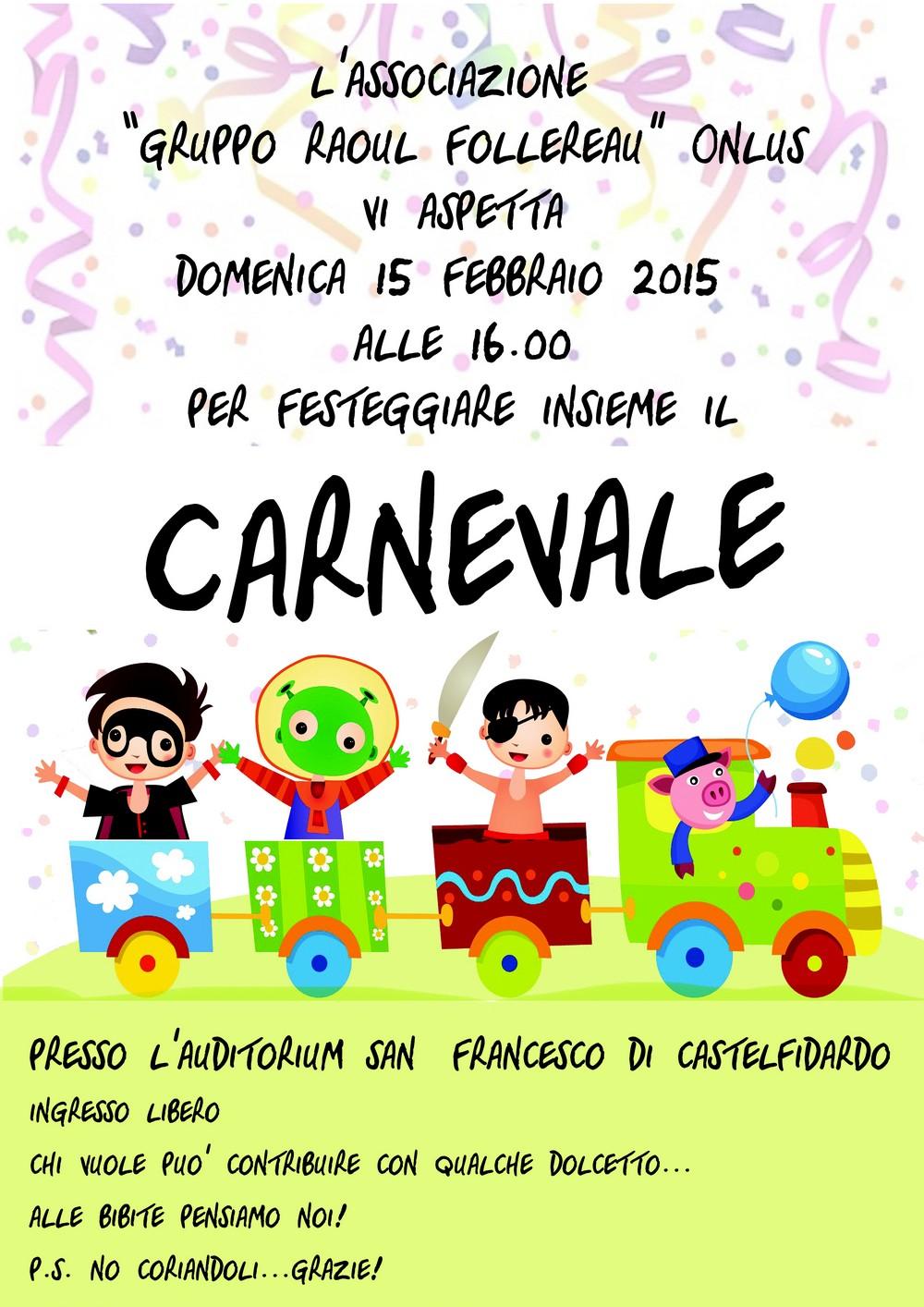 Carnevale, feste ed ordinanze