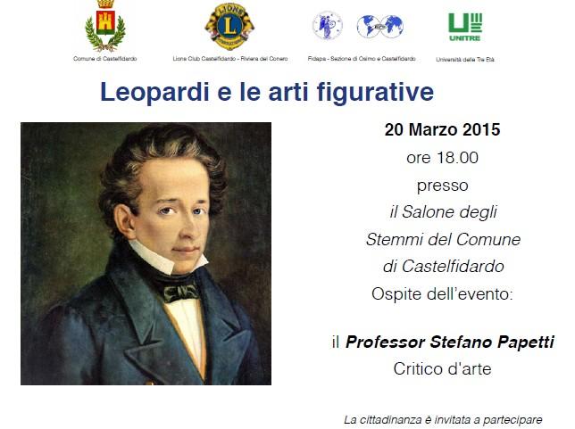 Leopardi e le arti figurative col prof. Papetti