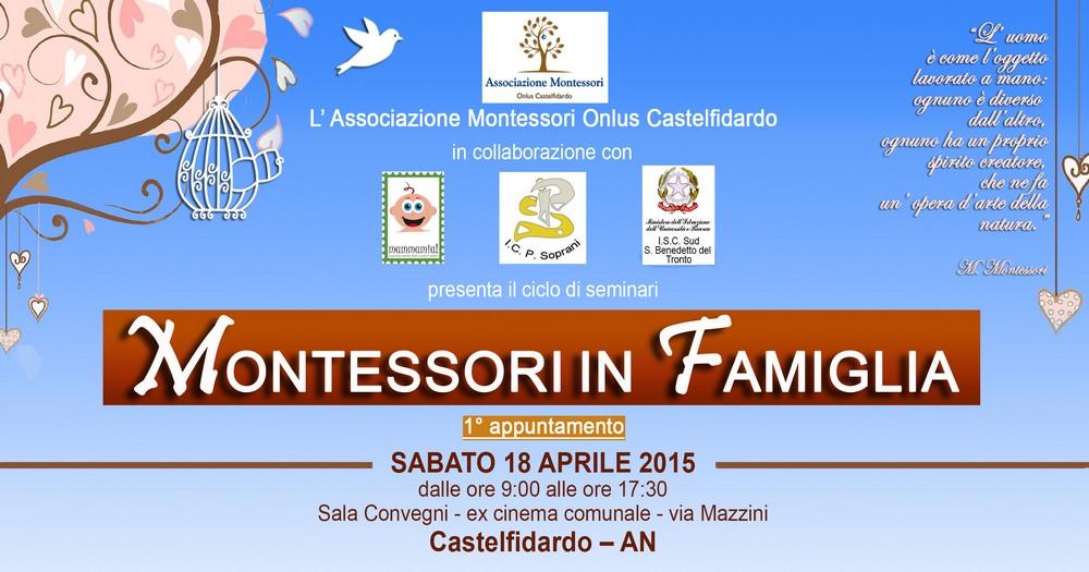 Montessori in famiglia, iscrizioni al seminario