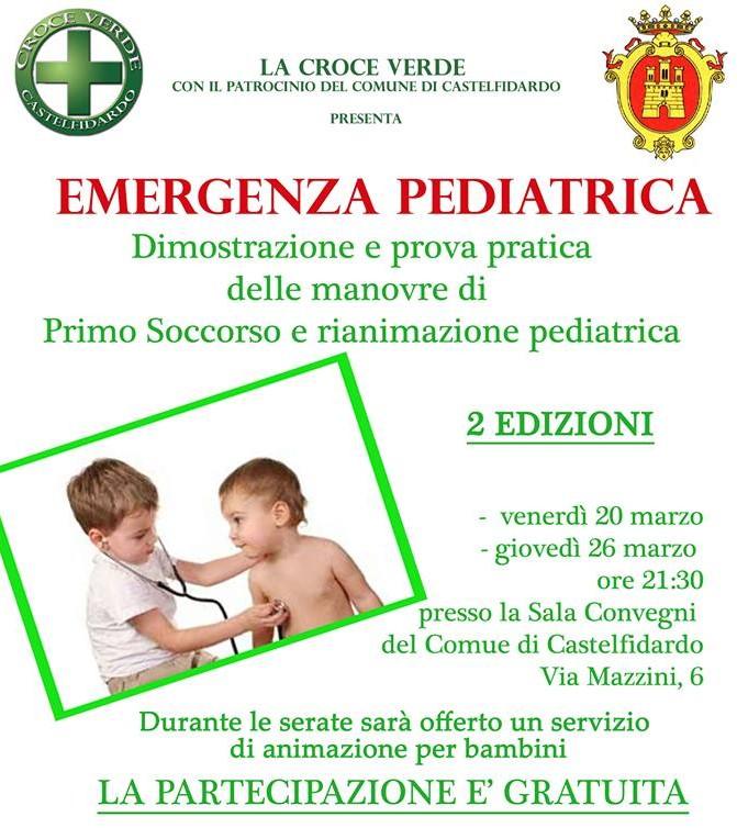 """Emergenza pediatrica, a """"lezione"""" con la Croce Verde"""