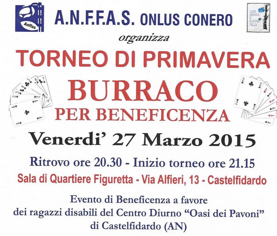 Burraco, torneo di primavera pro-Anffas