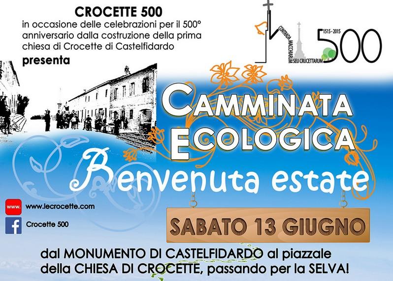 Benvenuta Estate, camminata ecologica sabato 13 giugno