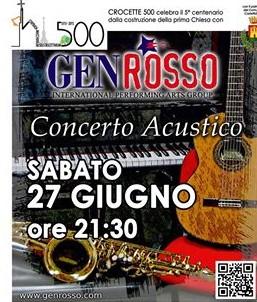 Gen Rosso, prenotazioni per il concerto del 27 giugno