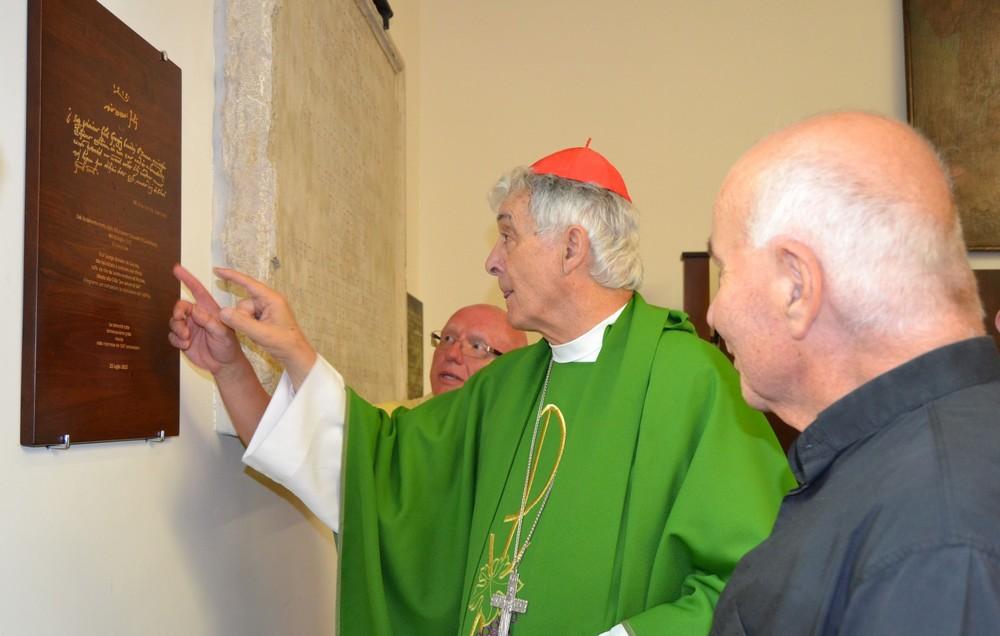 Festa dei Cinquecento, il cardinale scopre la lapide