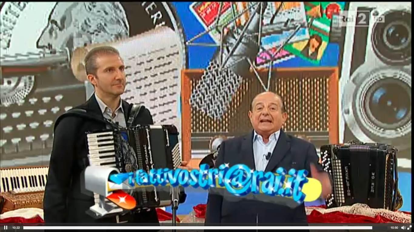 """Il Museo della fisarmonica a """"I fatti vostri"""""""