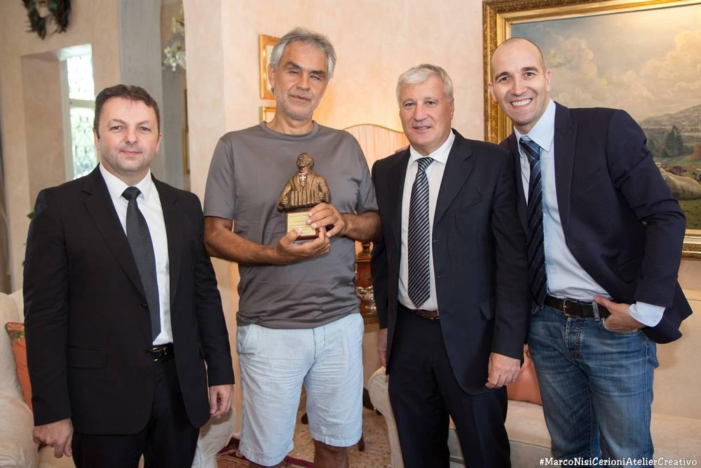 Il Premio Paolo Soprani al grande Andrea Bocelli