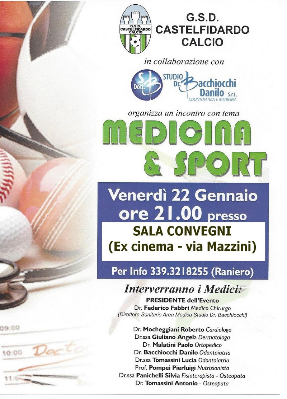 Medicina e sport venerdì in sala convegni