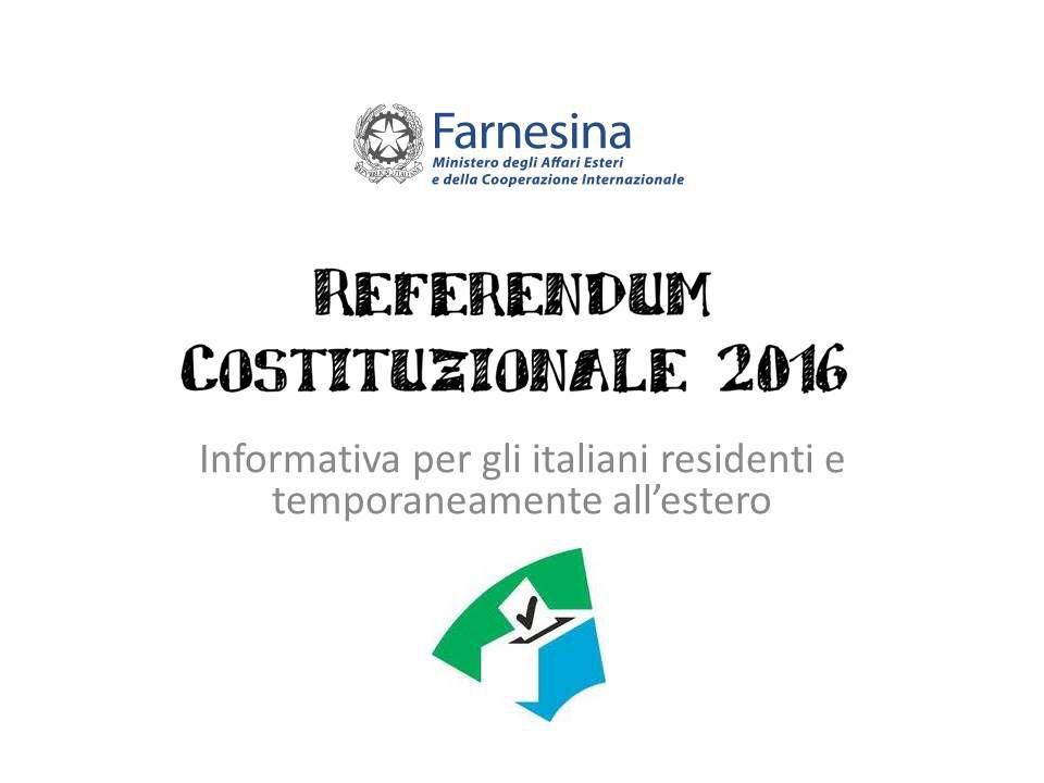 Referendum, elettori temporaneamente all`estero