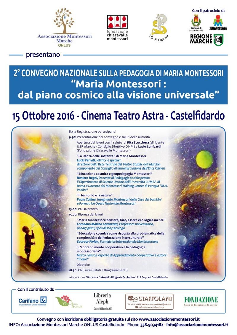 Convegno Nazionale sulla pedagogia di Maria Montessori