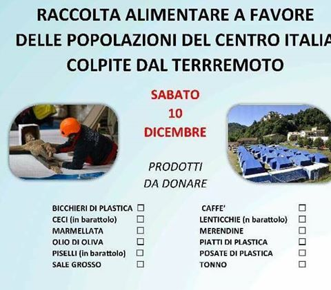 Raccolta pro-terremotati sabato all`Ipersimply