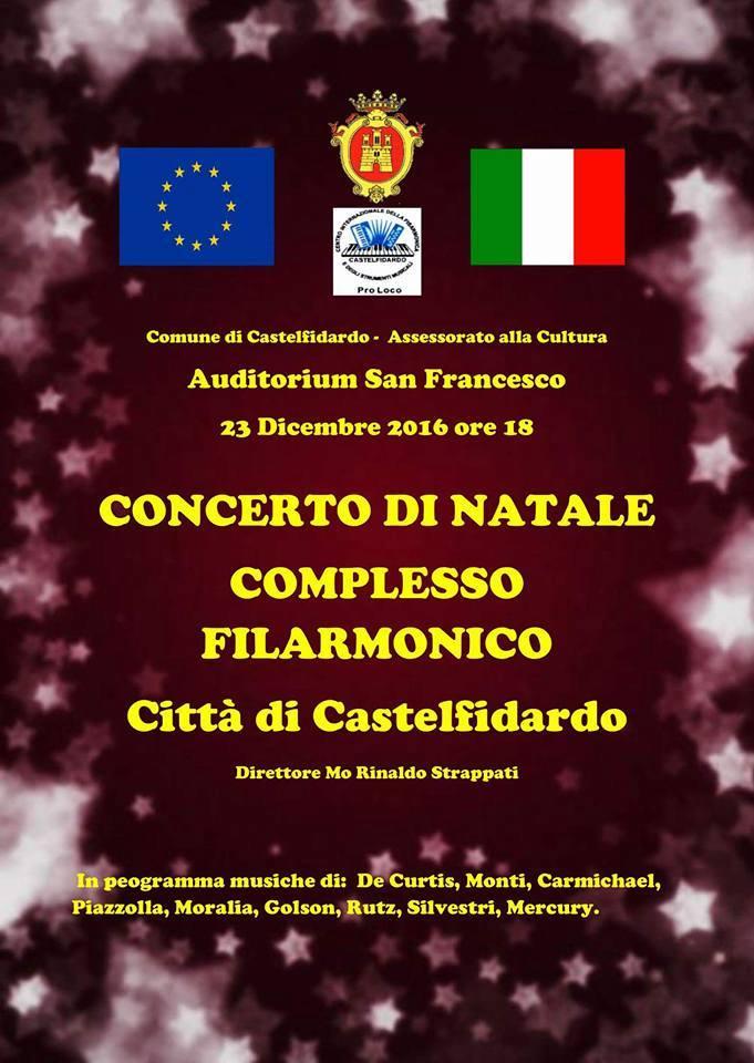 Venerdì concerto di Natale con il Complesso Filarmonico