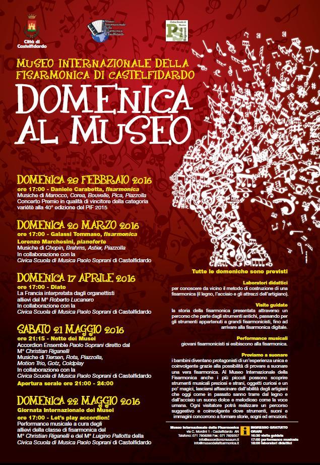 """Dal 28 febbraio torna """"Domenica al Museo"""""""