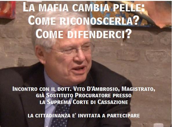 """Incontro con Vito D`Ambrosio su la """"nuova"""" mafia"""