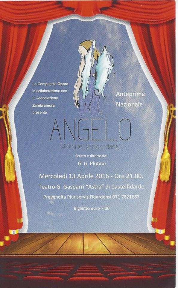 Angelo, anteprima nazionale il 13 aprile all`Astra