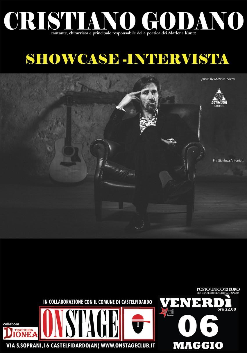Cristiano Godano show-case, aperte le prevendite