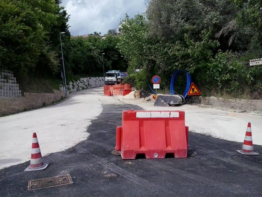 Lavori in corso in via Cardona e Cilea