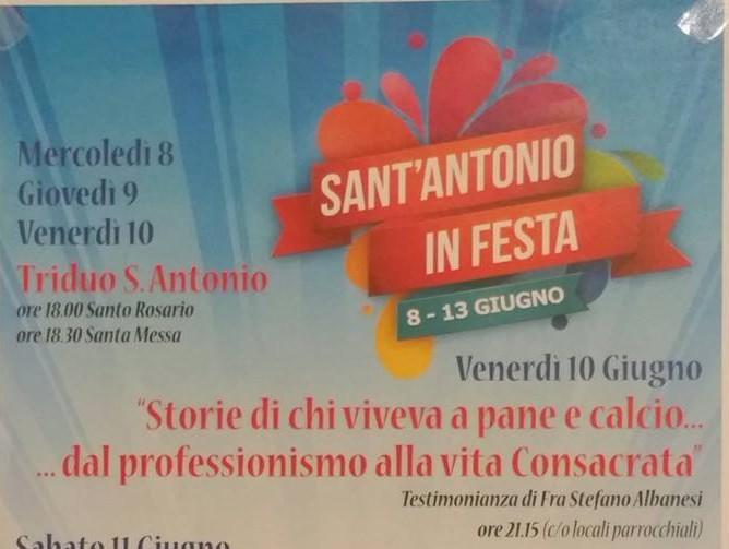Sant`Antonio in festa, il programma