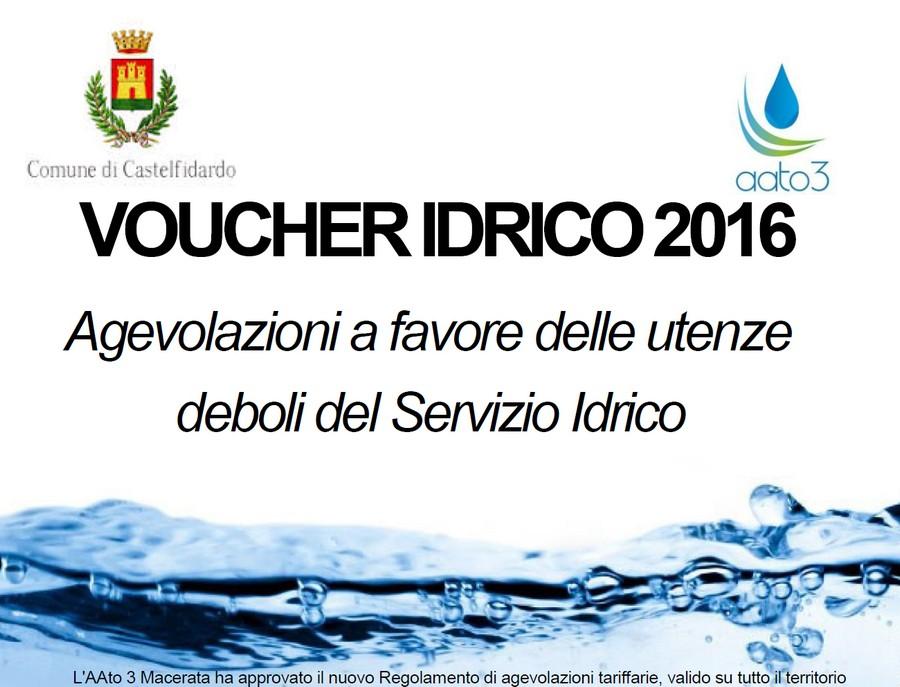 Voucher idrico, proroga al 30 luglio