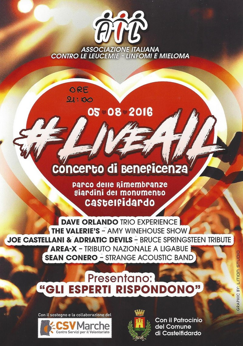 LiveAil venerdì al teatro Astra