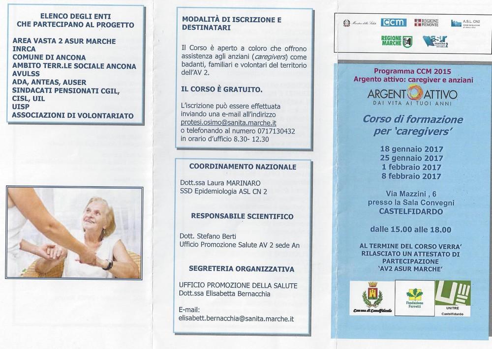 """Corso di formazione per """"caregivers"""""""
