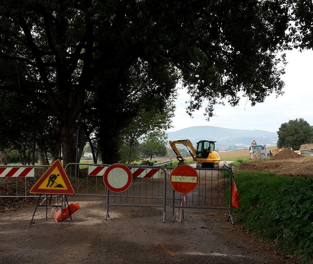 Via Sardegna, lavori in corso