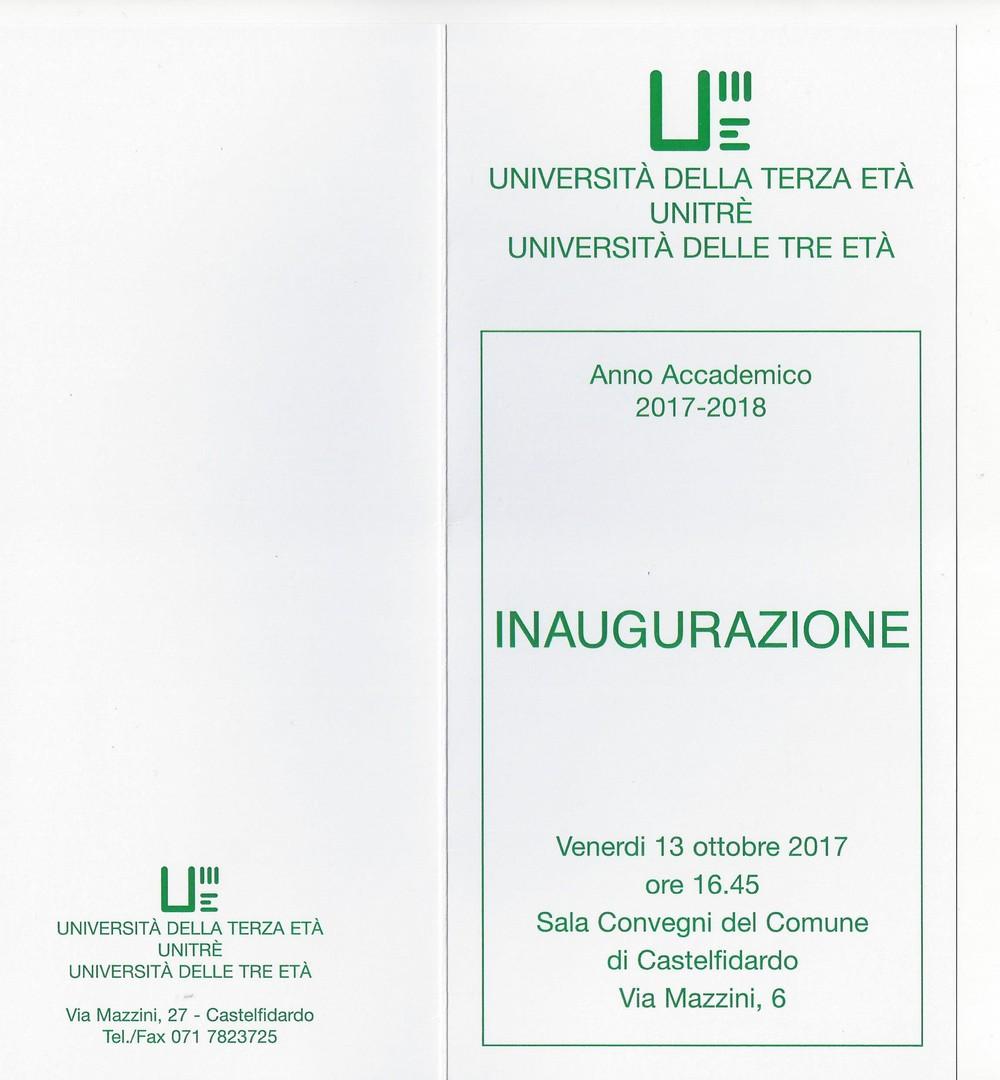 Unitre, apertura dell`anno accademico