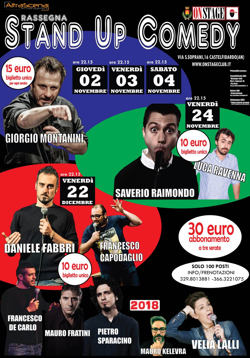 Stand up comedy, al via le prevendite