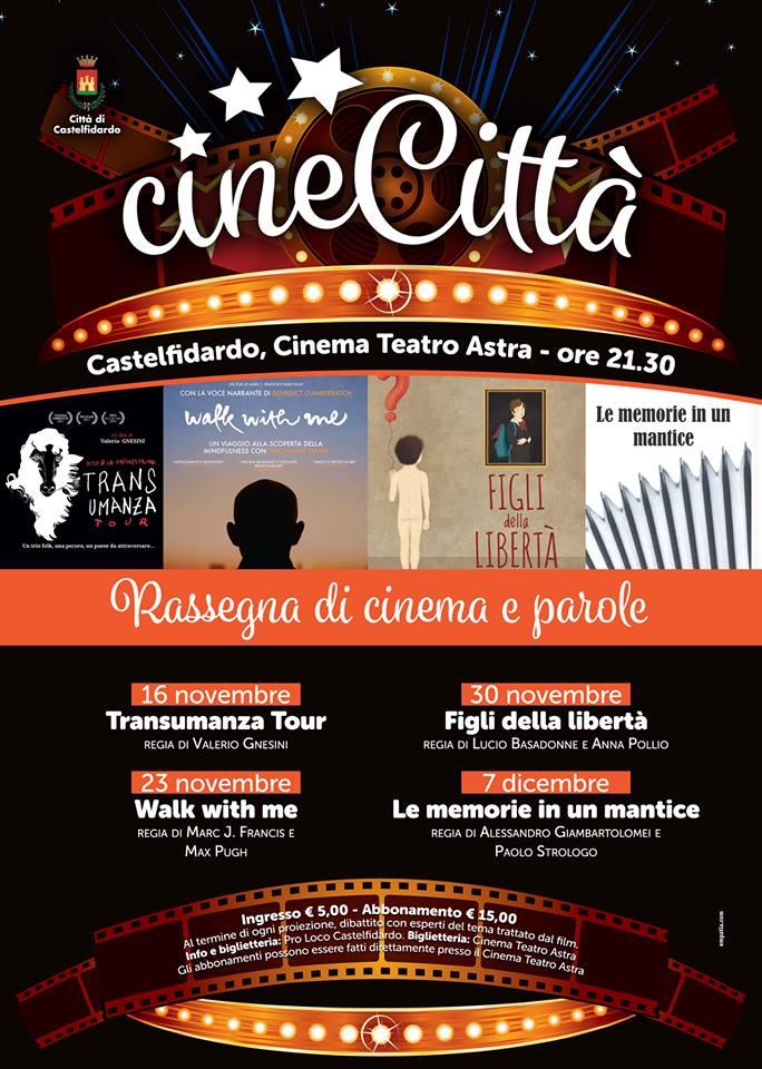 CineCittà, dal 16 novembre quattro appuntamenti