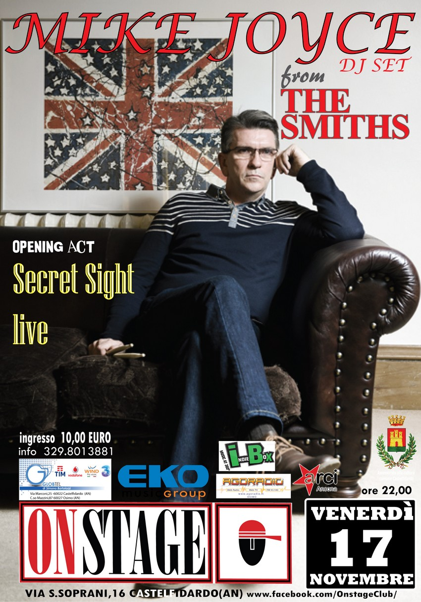 Mike Joyce di scena all`On Stage