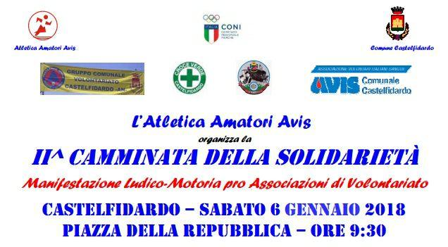 6 gennaio, camminata della solidarietà con l`A.A. Avis