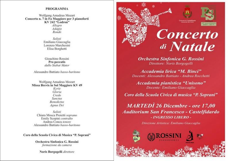 Concerto di Natale per tre pianoforti e orchestra