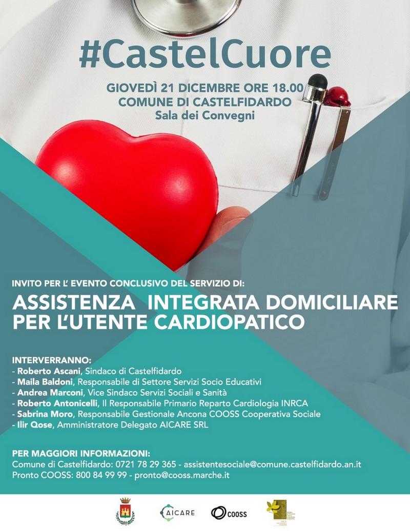#CastelCuore, giovedì l`evento conclusivo