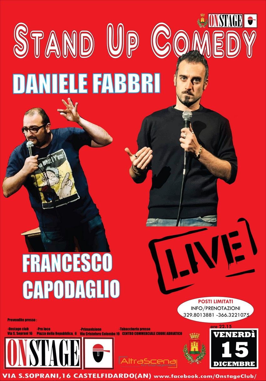 Stand up comedy all`On Stage con Fabbri e Capodaglio