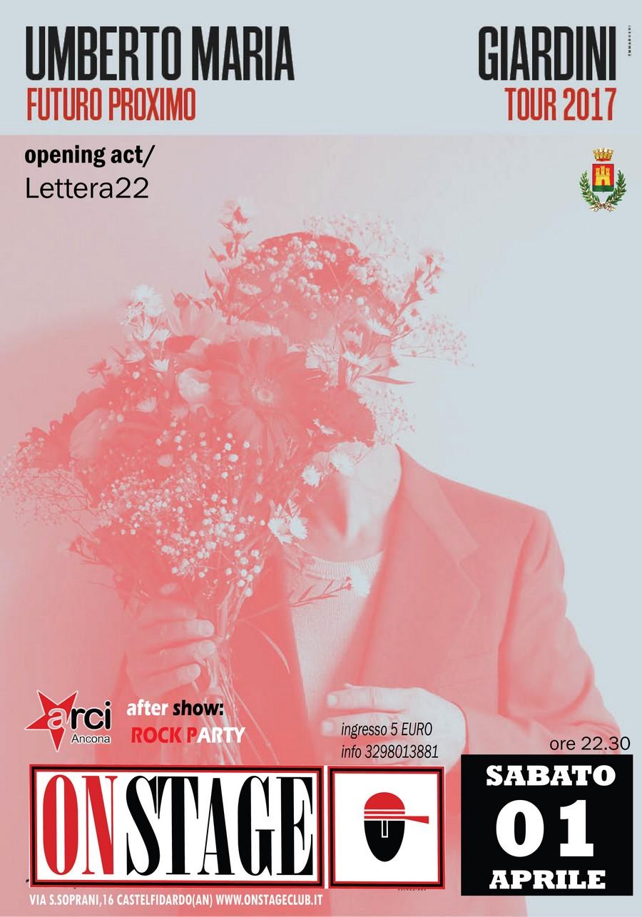 Umberto Maria Giardini sabato all`On Stage