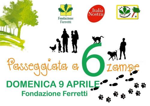Passeggiata a 6 zampe con la Fondazione Ferretti