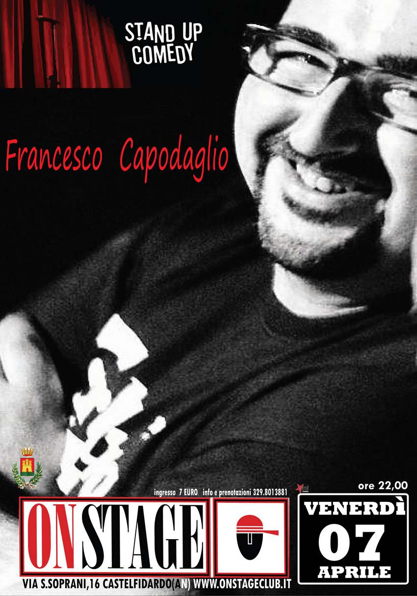 All`On Stage la stand up comedy di Francesco Capodaglio