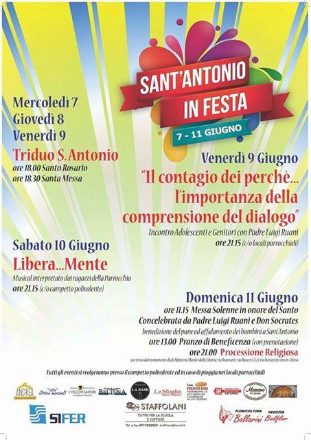 7-11 giugno, Sant`Antonio in festa